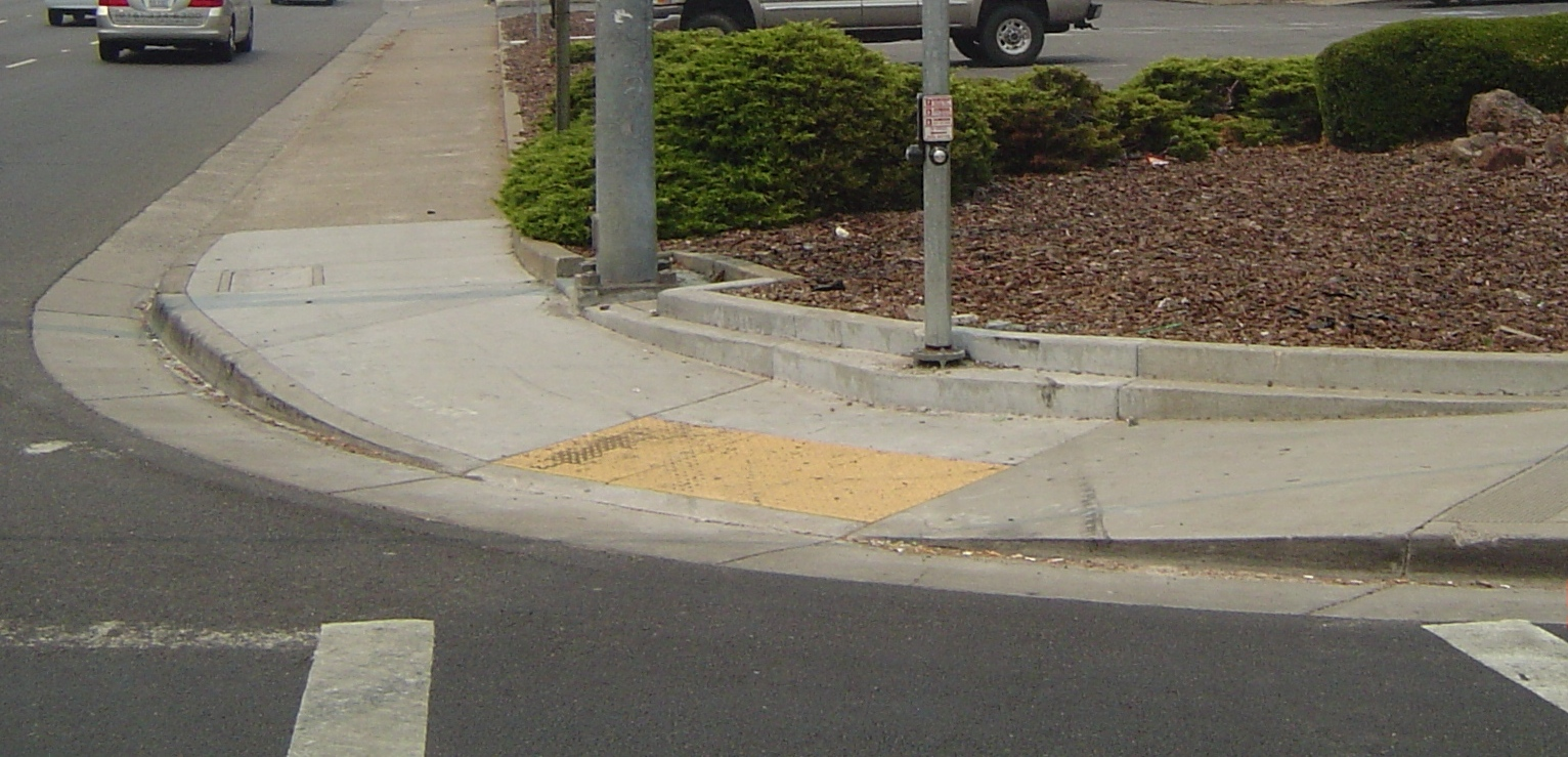 Ada compliant curb