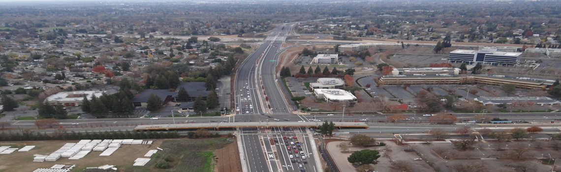 Watt Avenue @ US-50 Interchange Project – Future Bus-Rapid-Transit Lane.