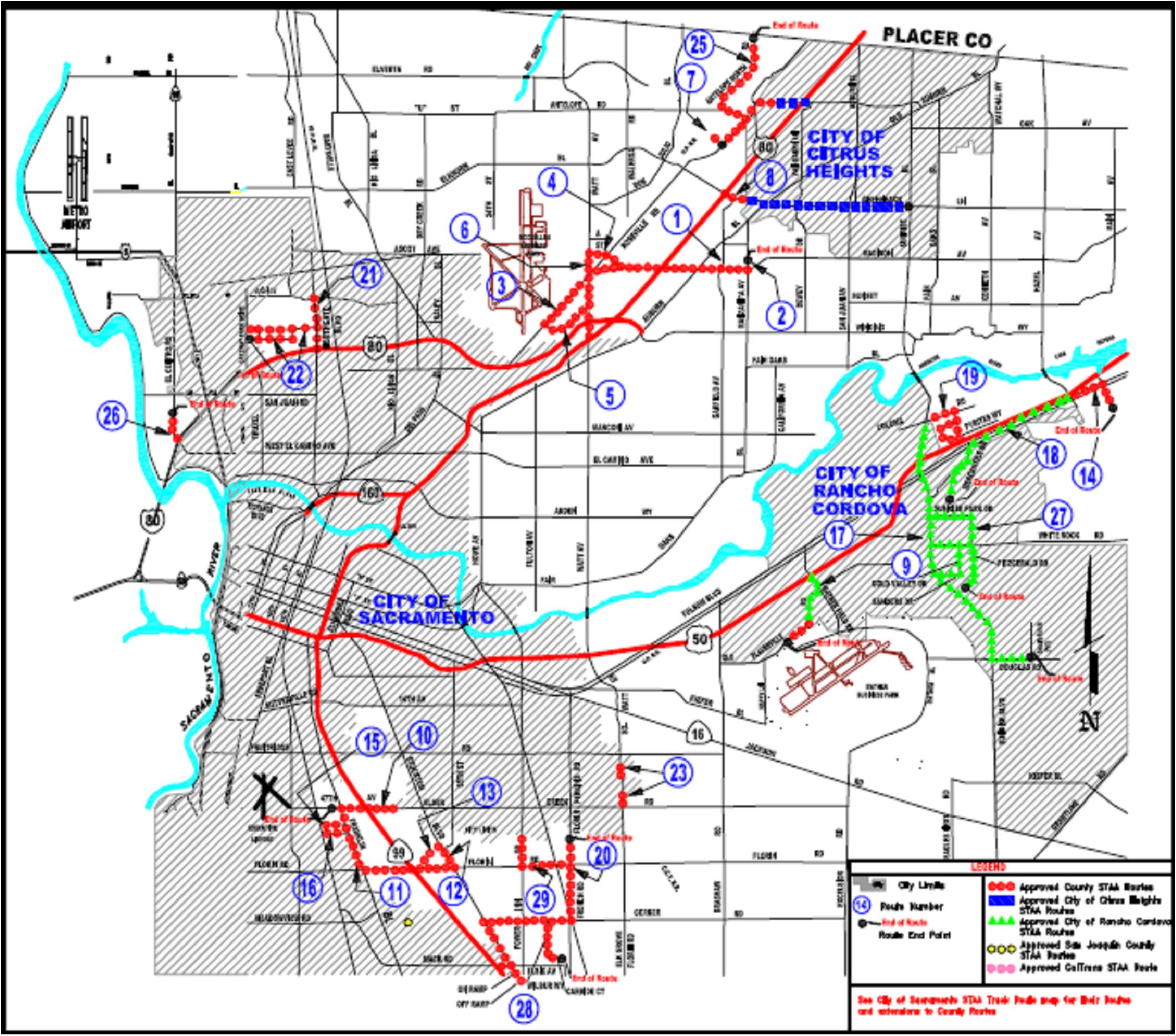 Image of Sacramento Roadways. Click to enlarge image